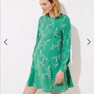 Maternity Green Floral Print Shirt Dress